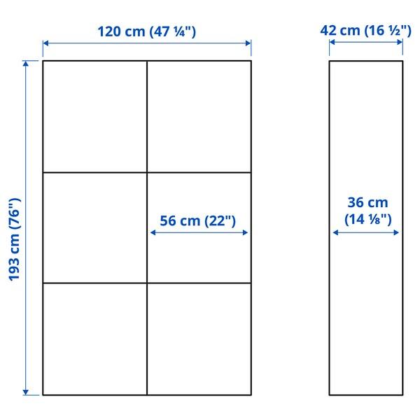 BESTÅ Storage combination with doors, white/Västerviken white, 120x42x193 cm