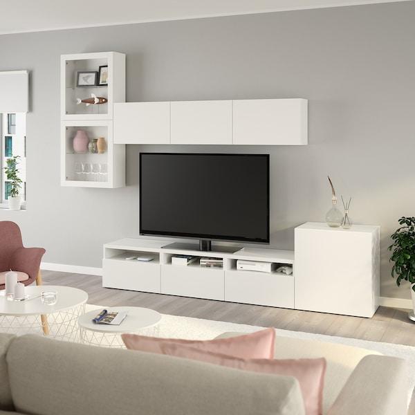 BESTÅ TV storage combinationglass doors whiteLappviken