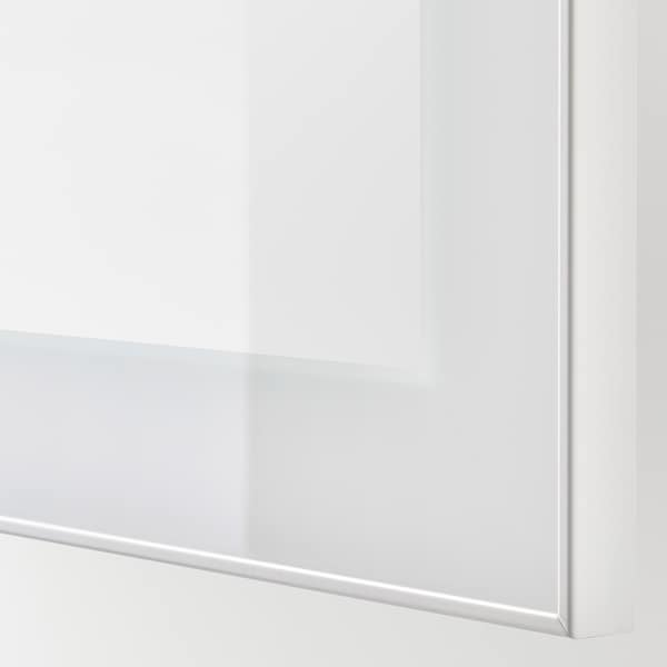 BESTÅ Wall-mounted cabinet combination, white/Glassvik clear glass, 120x42x64 cm