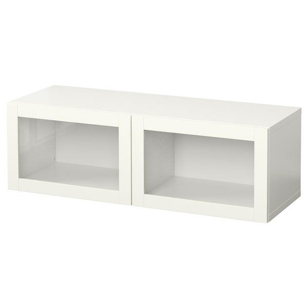 BESTÅ Wall-mounted cabinet combination, white/Sindvik white, 120x42x38 cm