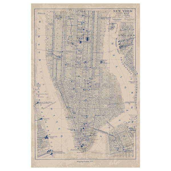 Bild Poster Manhattan Map Ikea