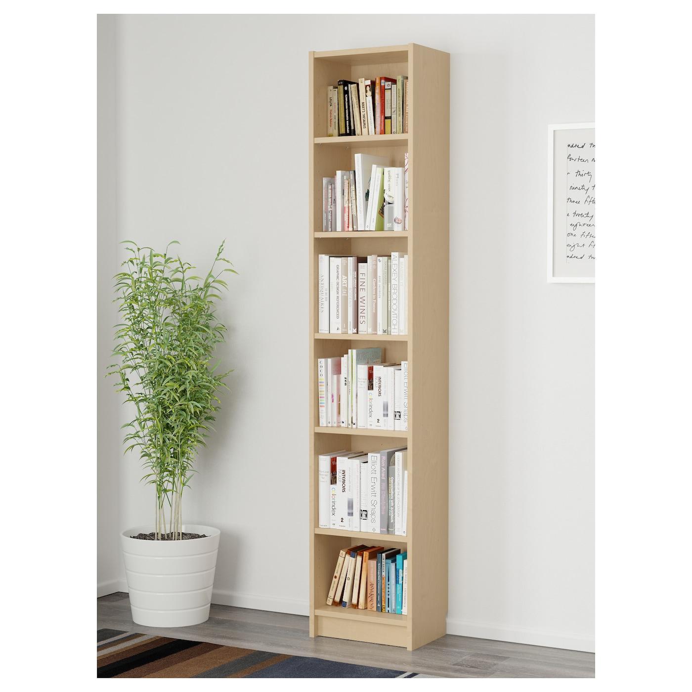 BILLY Bookcase Birch Veneer 40 X 28 X 202 Cm