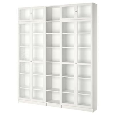 BILLY / OXBERG Bookcase, white, 200x30x237 cm
