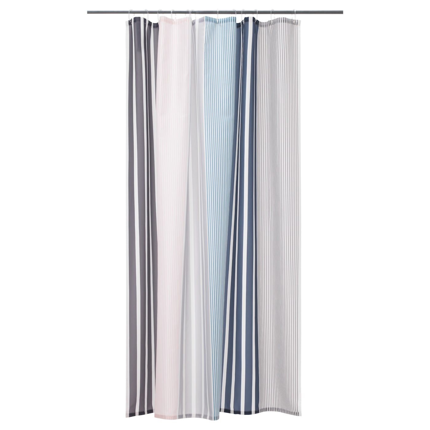 IKEA BOLMAN Shower Curtain Densely Woven Polyester Fabric With Water Repellent Coating