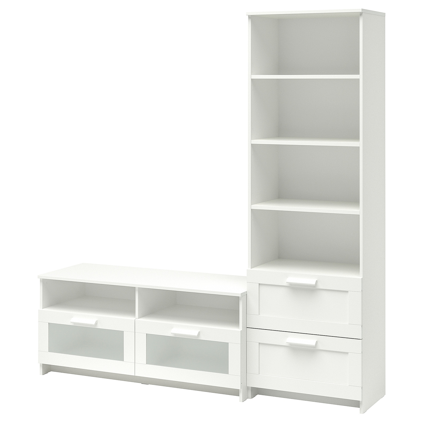 Ikea brimnes tv storage combination adjustable shelves so you can customise your storage as needed