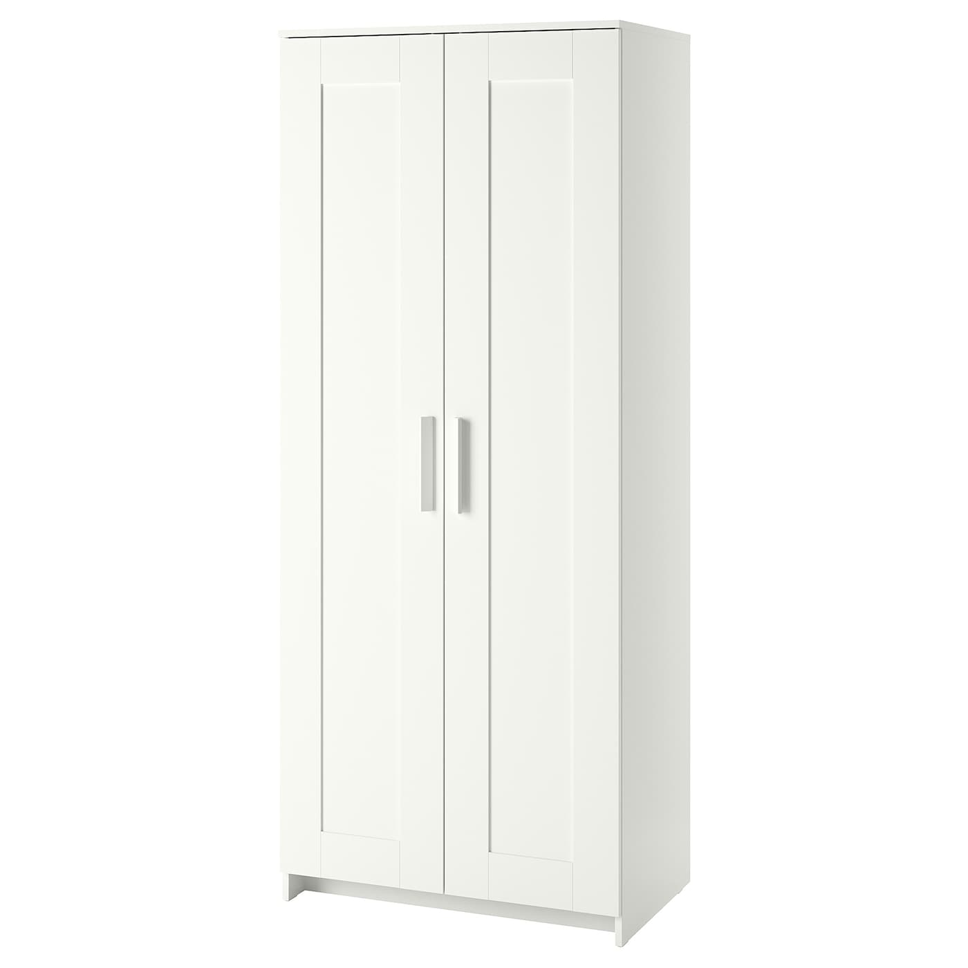 ikea brimnes wardrobe with 2 doors perfect for folded as well as long and short hanging - White Wardrobe