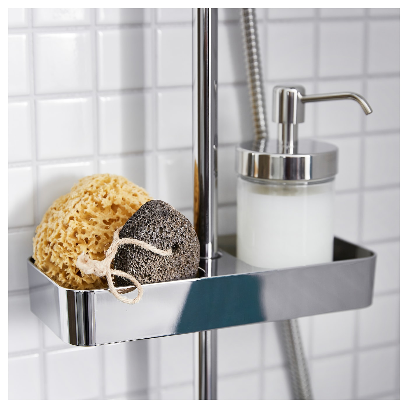 BROGRUND Shower shelf, chrome-plated, 25x4 cm