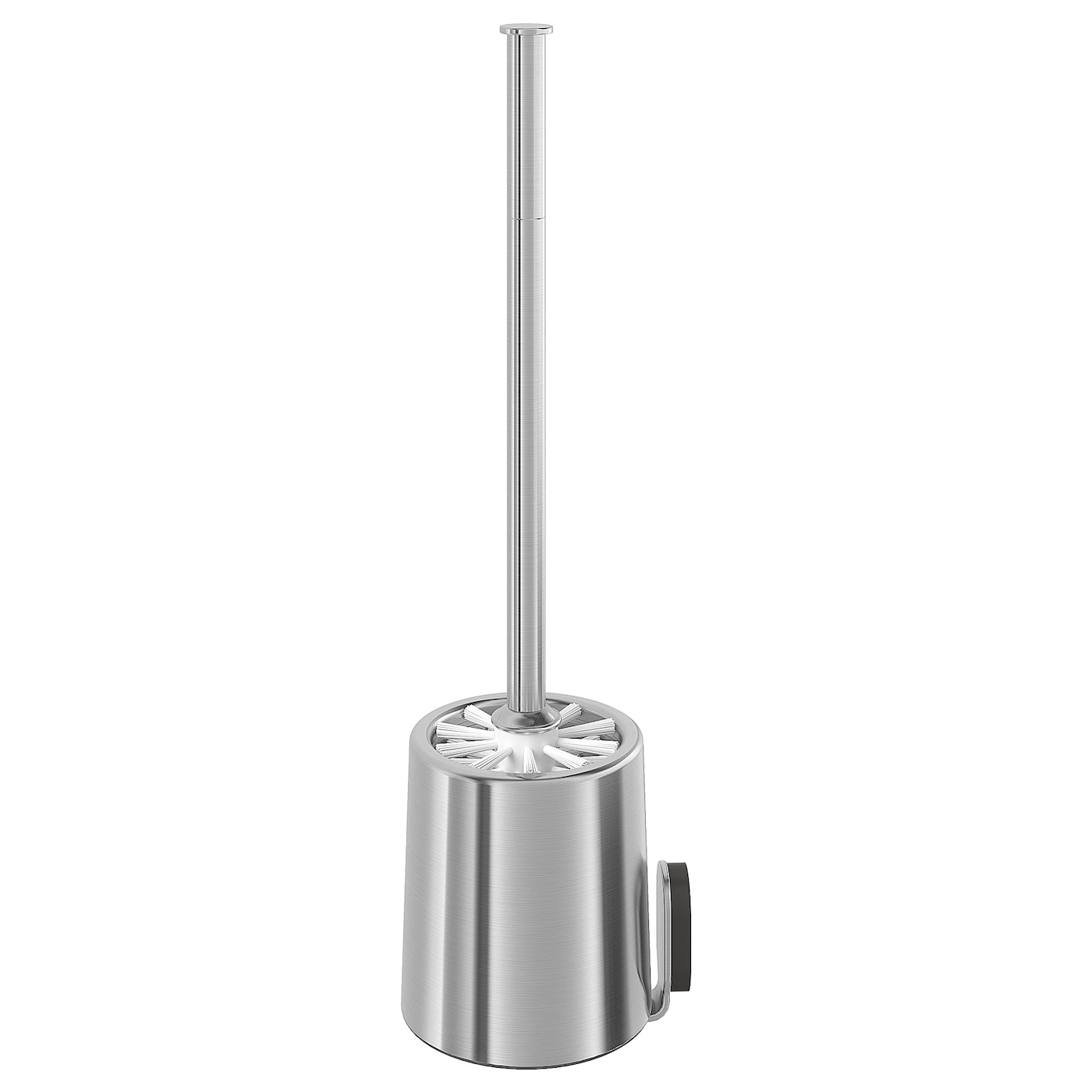 IKEA BROGRUND toilet brush Made from stainless steel that is durable and easy to clean.