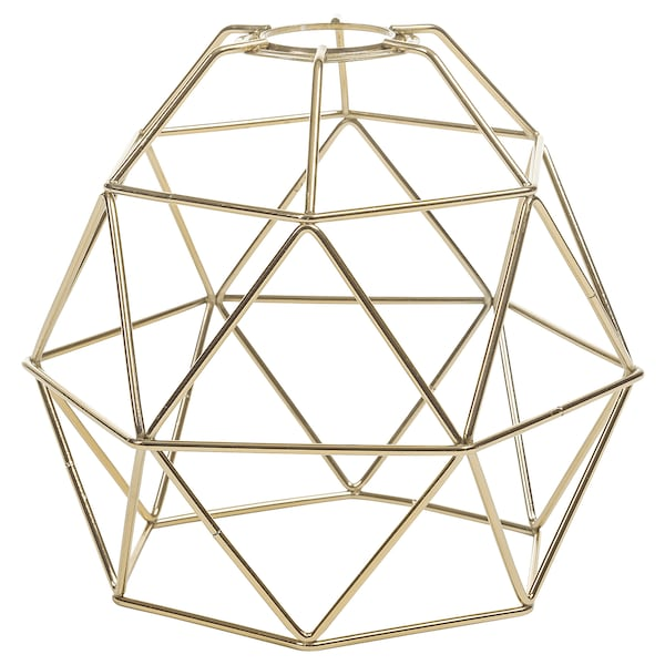 BRUNSTA Pendant lamp shade, brass-colour, 20 cm