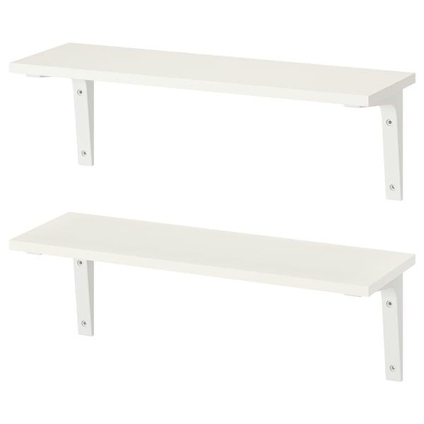 BURHULT / EKBY STÖDIS wall shelf combination white/white 59 cm 20 cm