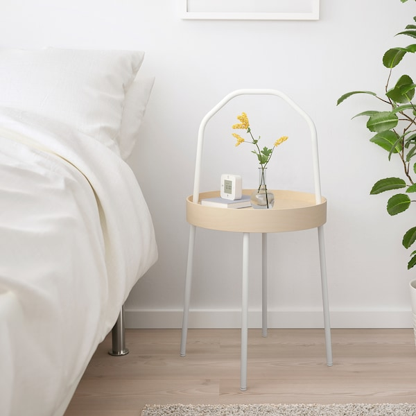 BURVIK side table white 78 cm 45 cm 38 cm