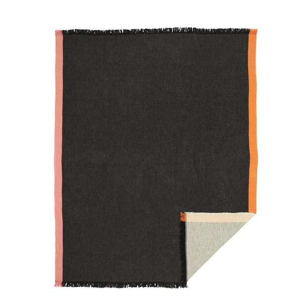 DEKORERA Throw, anthracite, 130x160 cm