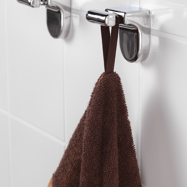 DJUNGELSKOG towel with hood monkey/brown 140 cm 70 cm
