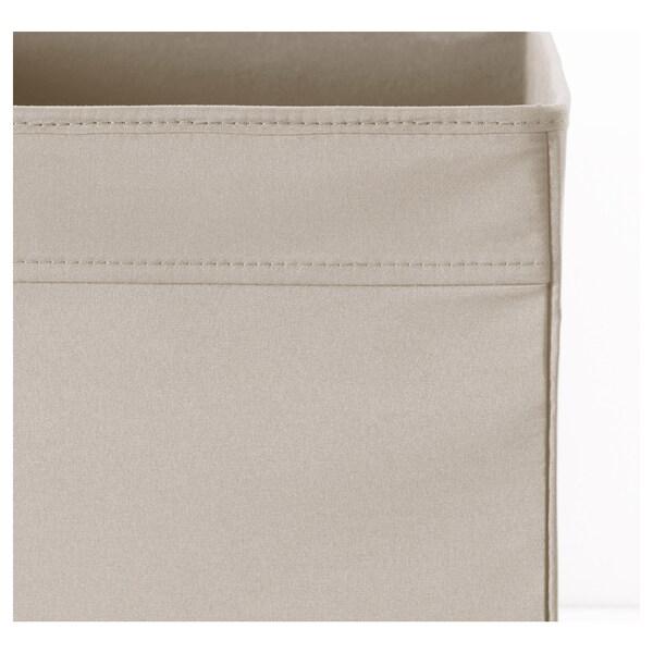 DRÖNA Box, beige, 33x38x33 cm