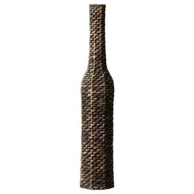 DRUVFLÄDER Decoration, vase, water hyacinth/grey, 90 cm