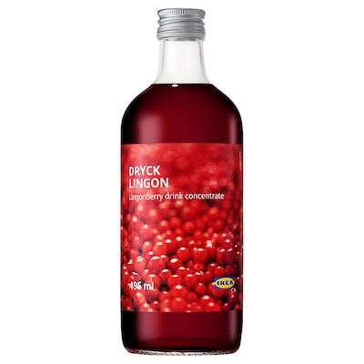DRYCK LINGON Lingonberry syrup, 495 ml