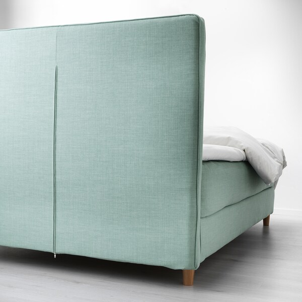 DUNVIK divan bed Hyllestad firm/Tustna light turquoise 210 cm 140 cm 120 cm 200 cm 140 cm