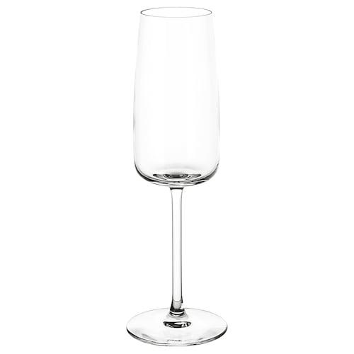 DYRGRIP champagne glass clear glass 23 cm 25 cl