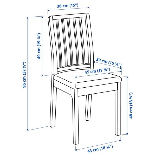EKEDALEN / EKEDALEN Table and 2 chairs, brown/Orrsta light grey, 80/120 cm