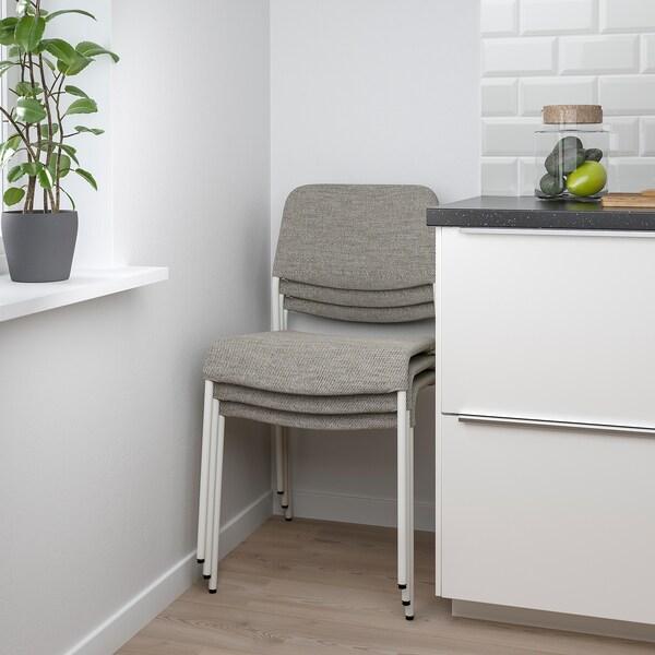 EKEDALEN / UDMUND Table and 2 chairs, white white/Viarp beige/brown, 80/120 cm