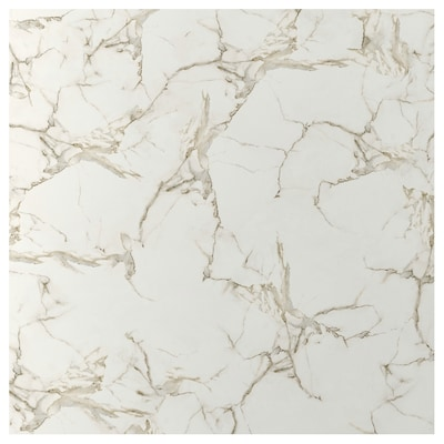 EKEKULL Custom made wall panel, matt white/marble effect ceramic, 1 m²x1.2 cm