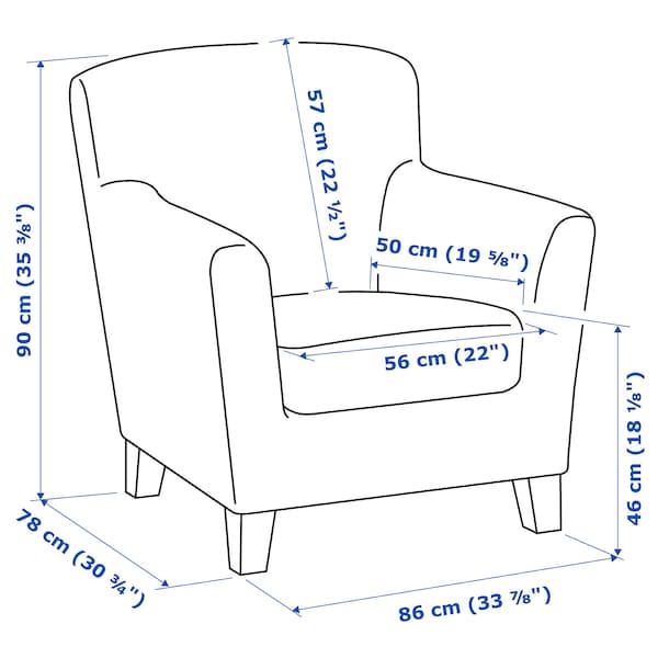 EKENÄS armchair Hensta light brown 86 cm 78 cm 90 cm 56 cm 50 cm 46 cm