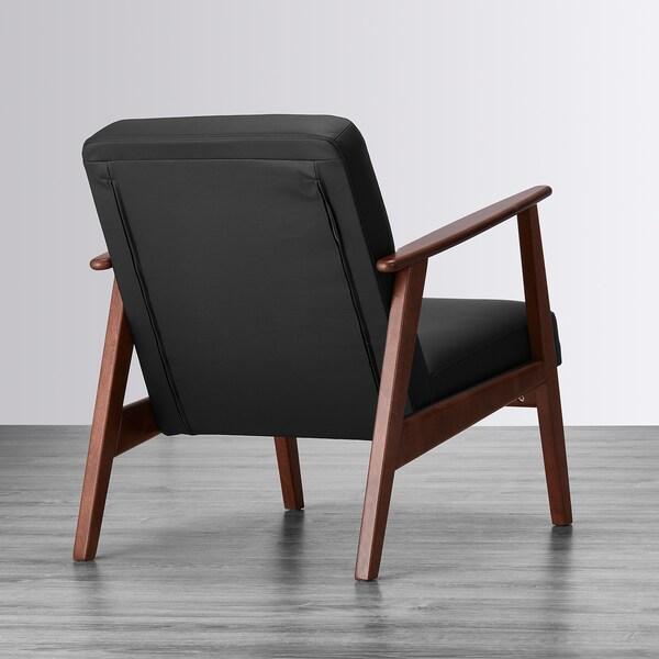 EKENÄSET Armchair - Idhult black - IKEA