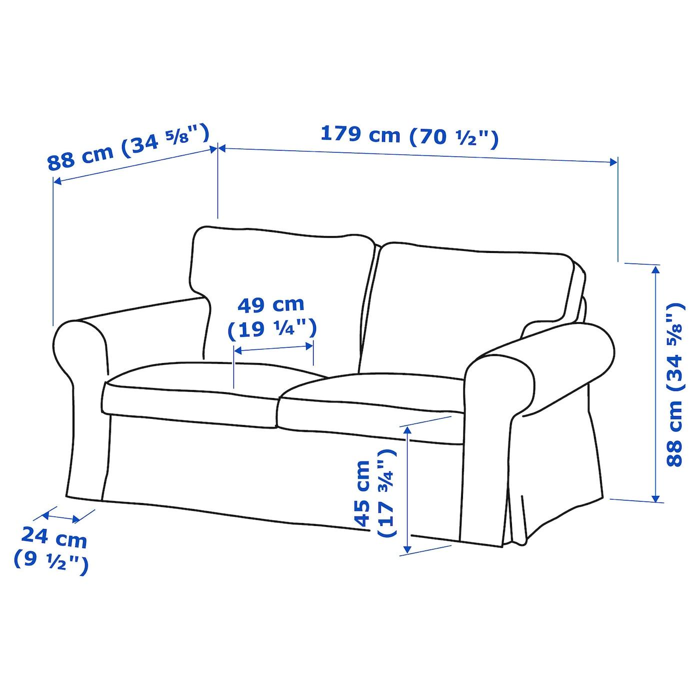 EKTORP 2 seat sofa Virestad redwhite