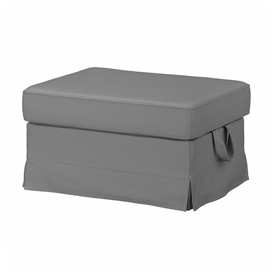 EKTORP Footstool, Remmarn light grey