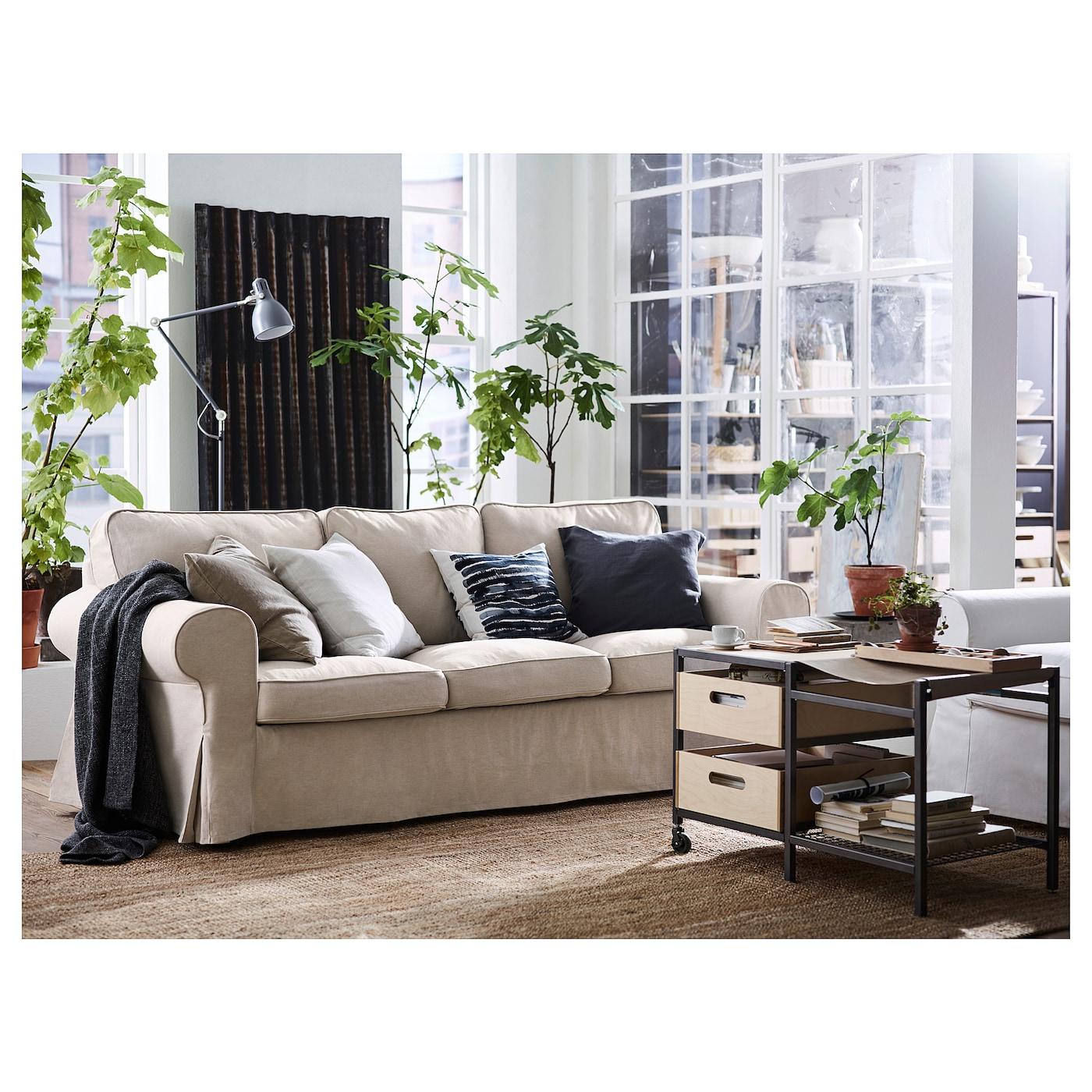 EKTORP Three-seat sofa - Lofallet beige