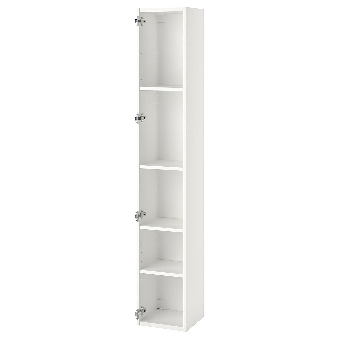 ENHET High cb w 4 shelves white 30x30x180 cm
