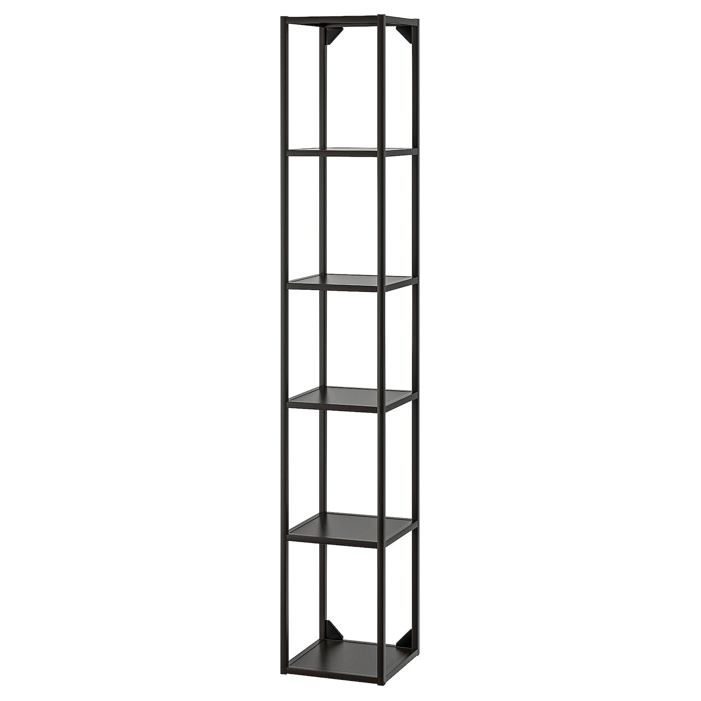 ENHET High fr w shelves anthracite 30x30x180 cm