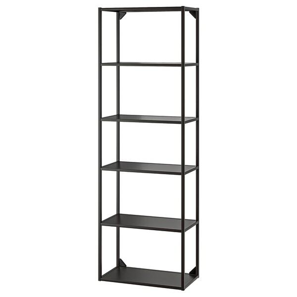 ENHET High fr w shelves anthracite 60x30x180 cm