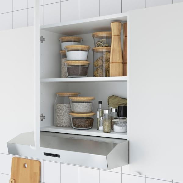ENHET Kitchen, anthracite/concrete effect, 123x63.5x222 cm