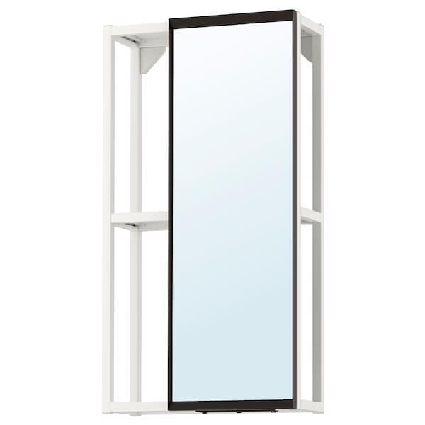 ENHET Mirror cabinet, white, 40x17x75 cm