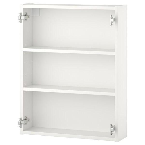 ENHET Wall cb w 2 shelves white 60x15x75 cm