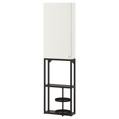 ENHET Wall storage combination, anthracite/white, 40x15x150 cm