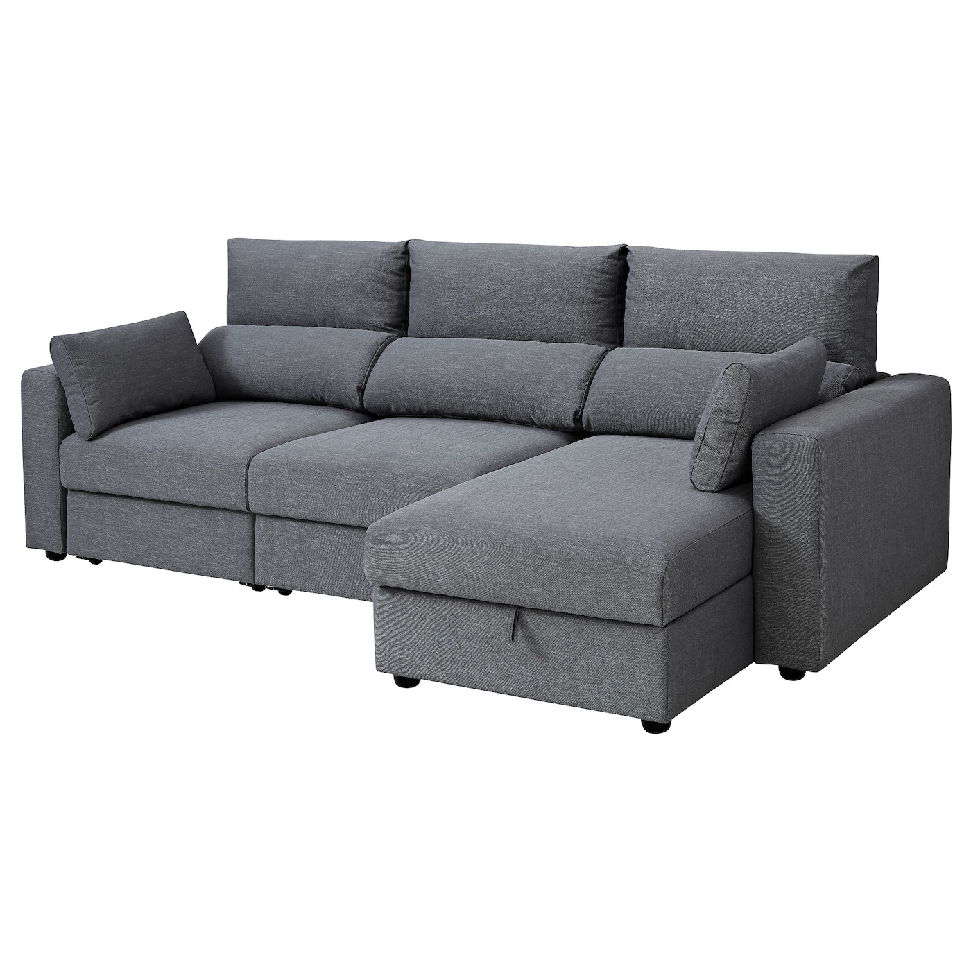 IKEA ESKILSTUNA 3-seat sofa with chaise longue Readily converts into a bed.