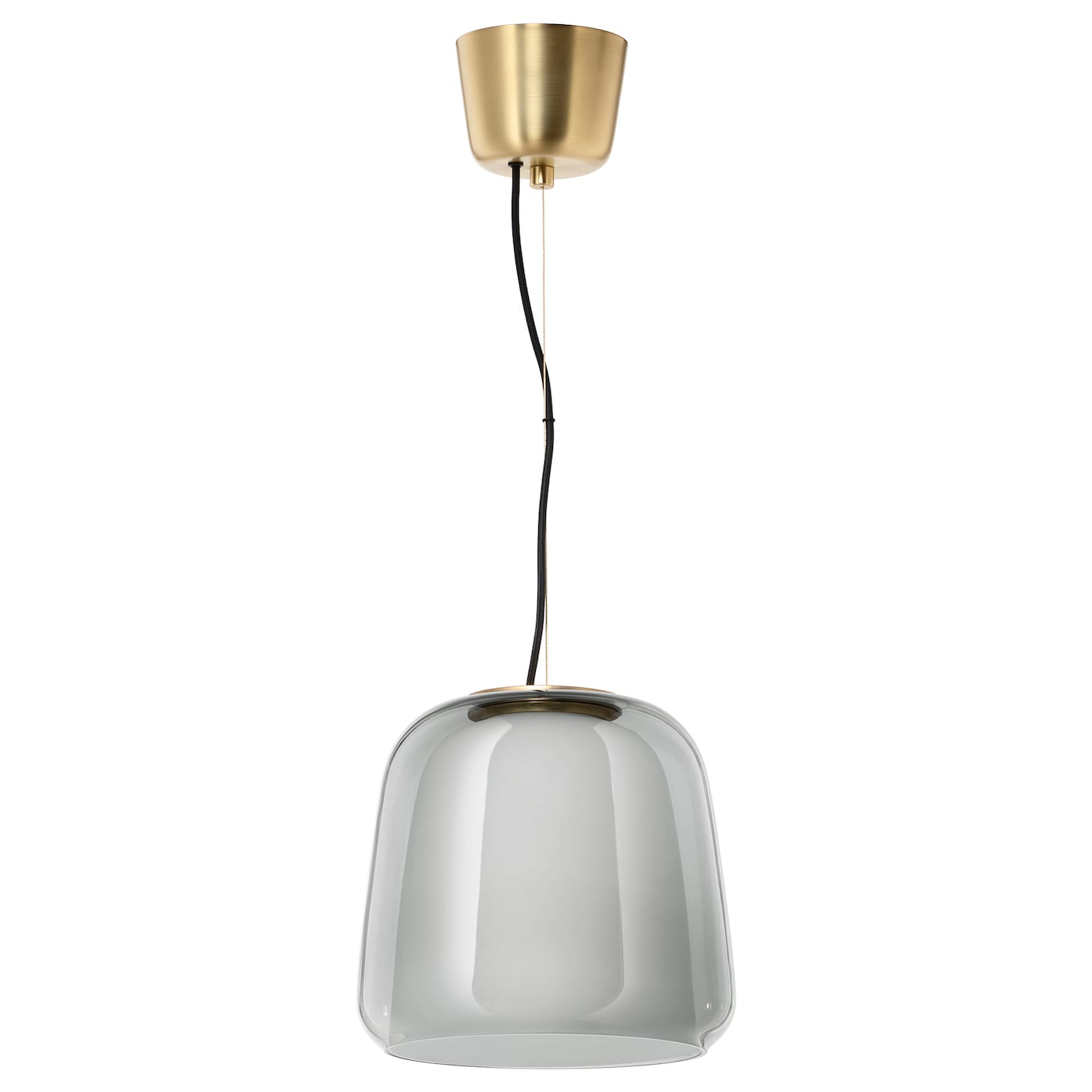 IKEA EVEDAL pendant lamp The lampshades in glass are mouth blown by a skilled craftsperson.