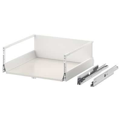 EXCEPTIONELL Drawer, high with push to open, white, 60x60 cm