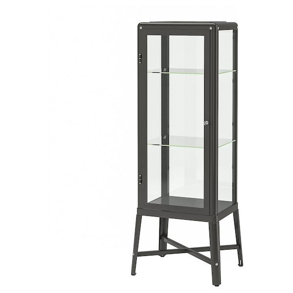 FABRIKÖR Glass door cabinet dark grey IKEA