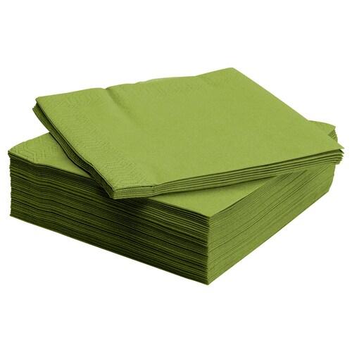 FANTASTISK paper napkin medium green 40 cm 40 cm 50 pack