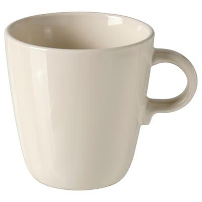 FÄRGKLAR Mug, glossy beige, 37 cl