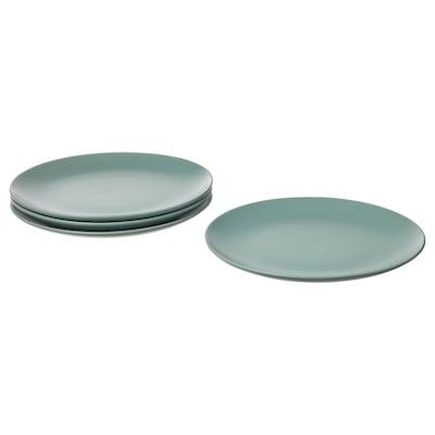 FÄRGKLAR Plate, matt light turquoise, 26 cm