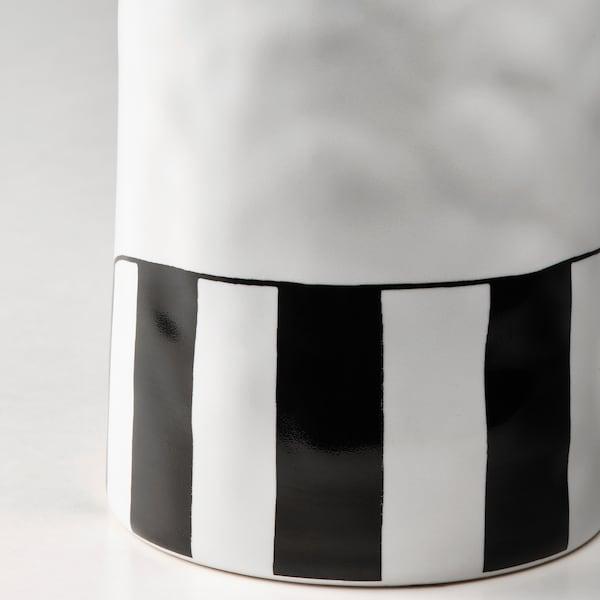 FÅTALIG Vase, cat off-white, 12 cm