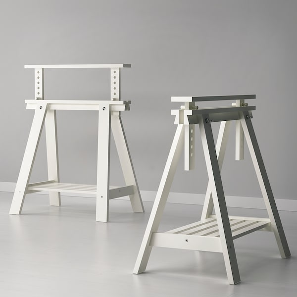Finnvard Trestle With Shelf White Ikea