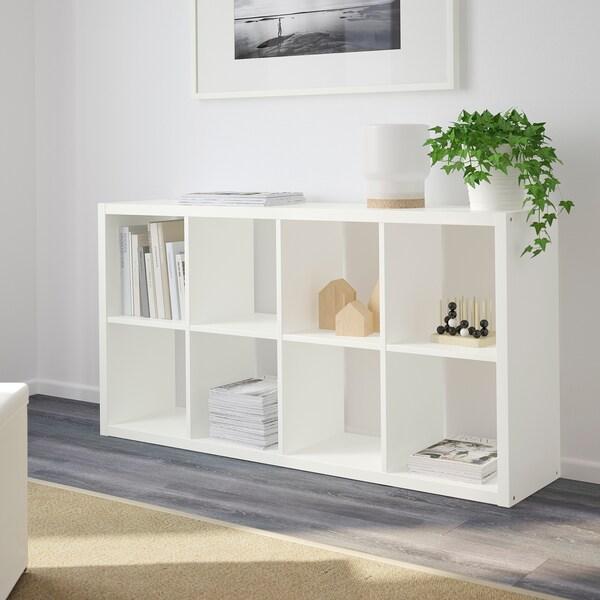 FLYSTA Shelving unit, white, 69x132 cm