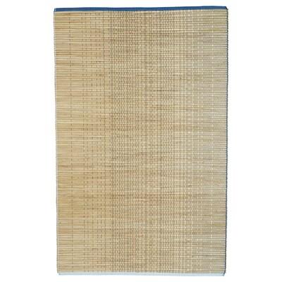 FÖRÄNDRING Rug, flatwoven, handmade/rice straw blue/natural, 120x180 cm