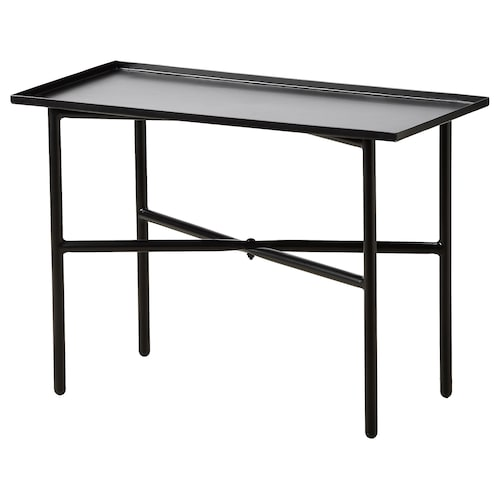FREKVENS side table black 66 cm 32 cm 50 cm 100 kg