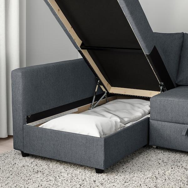 Friheten Corner Sofa Bed With Storage Hyllie Dark Grey